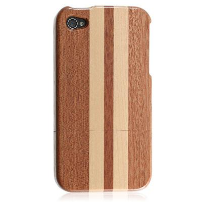 iPhone 4s Bamboo case - Dark Stripe