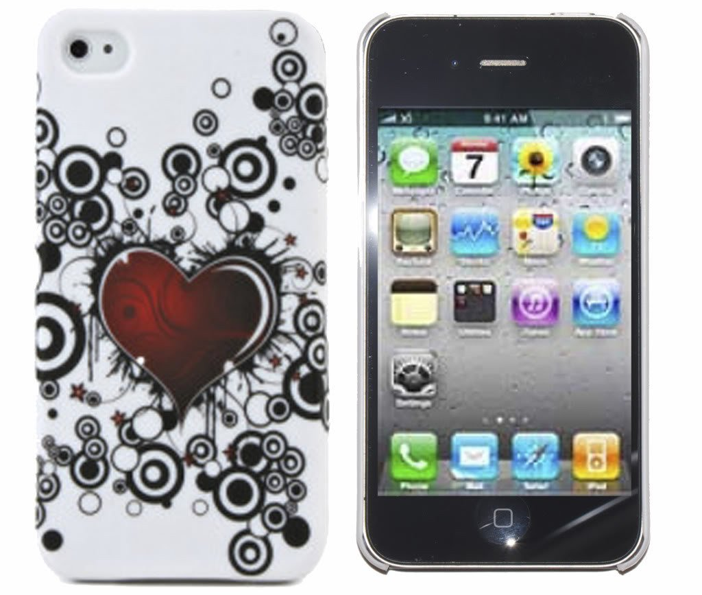 iPhone 4S Case White Heart