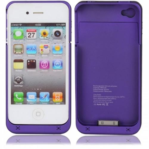 iPhone 4S Battery cover - Purple