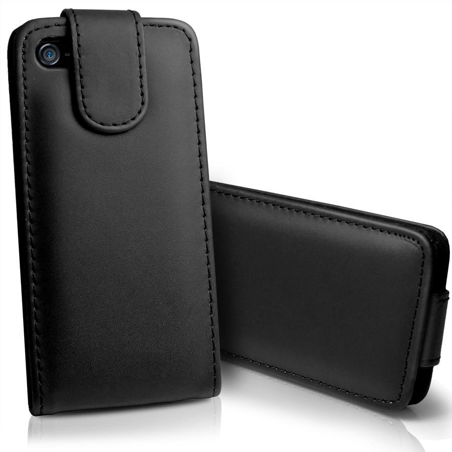 iPhone 5 Flip Leather Case - Black