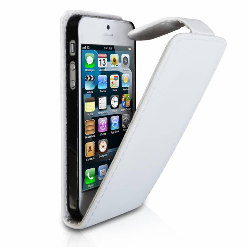 iPhone 5 Flip Leather Case - White