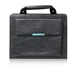 ipad faux leather handbag - black
