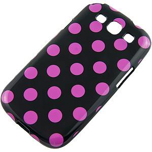 Samsung Galaxy S3 Polka Dot case- Black/Purple