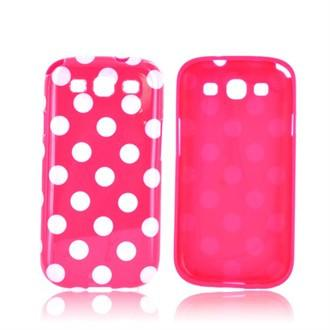 Samsung Galaxy S3 Polka Dot case - Pink/White