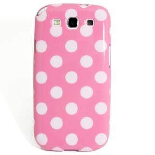Samsung Galaxy S3 Polka Dot case - Light Pink/White