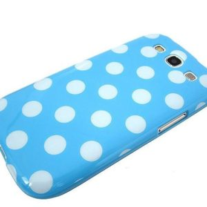 Samsung Galaxy S3 Polka Dot case - Blue/White