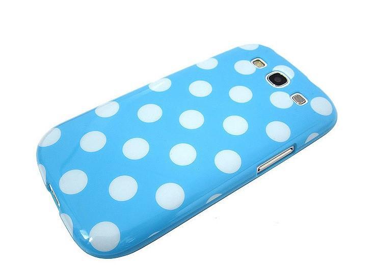 Samsung Galaxy S3 Polka Dot case - Blue/White