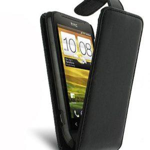 HTC One (M7) flip leather case - Black