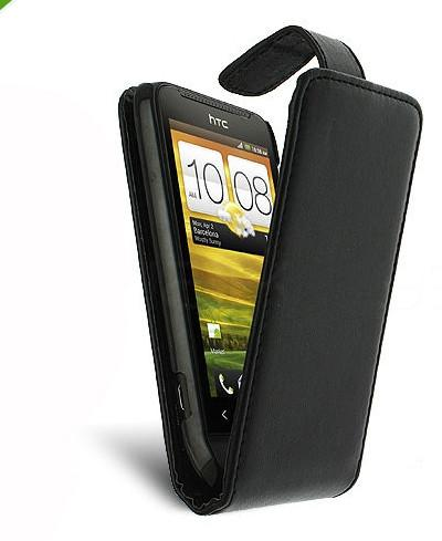 HTC One (M7) flip leather case - Black