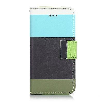 Samsung Galaxy S3 Triple Colour Flip Case - Aqua