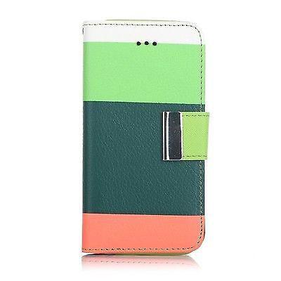 Samsung Galaxy S3 Triple Colour Flip Case - Green