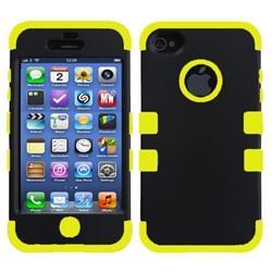 iPhone 5C Dual layer case - Black/yellow