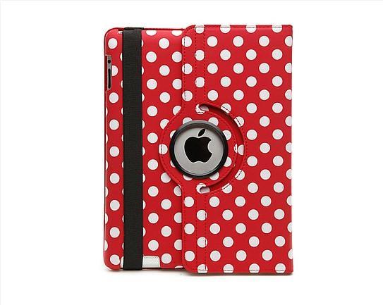 iPad 360 Polka Dot Case - Red