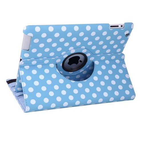 iPad 360 Polka Dot Case - Blue
