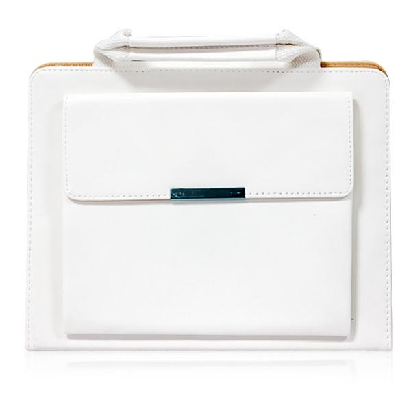ipad faux leather handbag - white