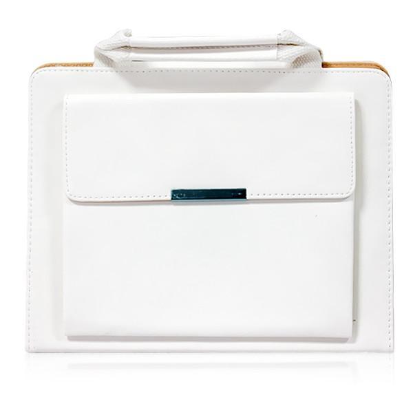 ipad faux leather handbag - white
