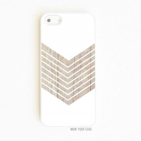 On Your Case iPhone 5/5S Case Wood Geometric White Minimalist
