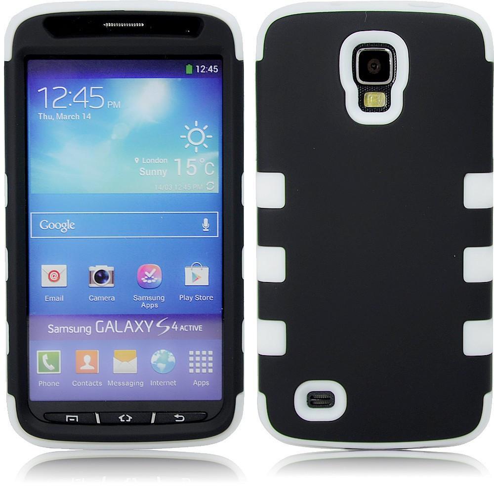 Samsung S4 Dual layer case - Black/yellow