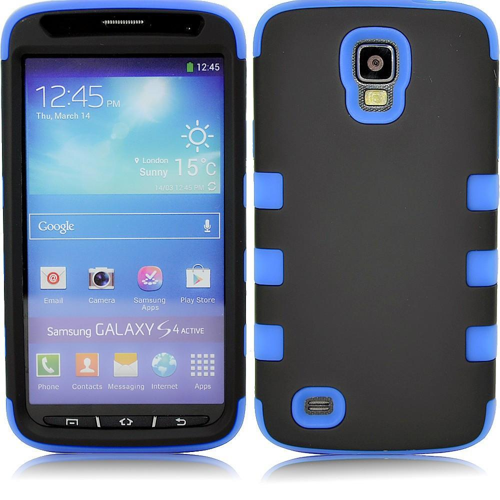 Samsung S4 Dual layer case - Black/blue