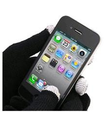 Smart Phone Gloves - Black