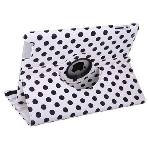 iPad 360 Polka Dot Case - White