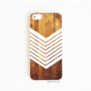 On Your Case iPhone 5/5S Case Dark Wood Grain Geometric White