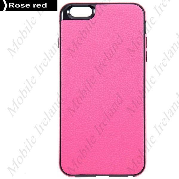 Slim leather iPhone 6 Plus Case - Pink