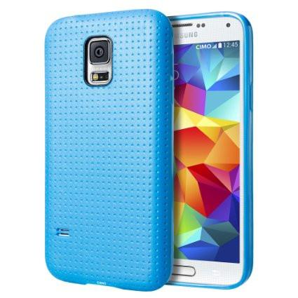 Protective Dot Soft Samsung S5 Case - Dark Blue