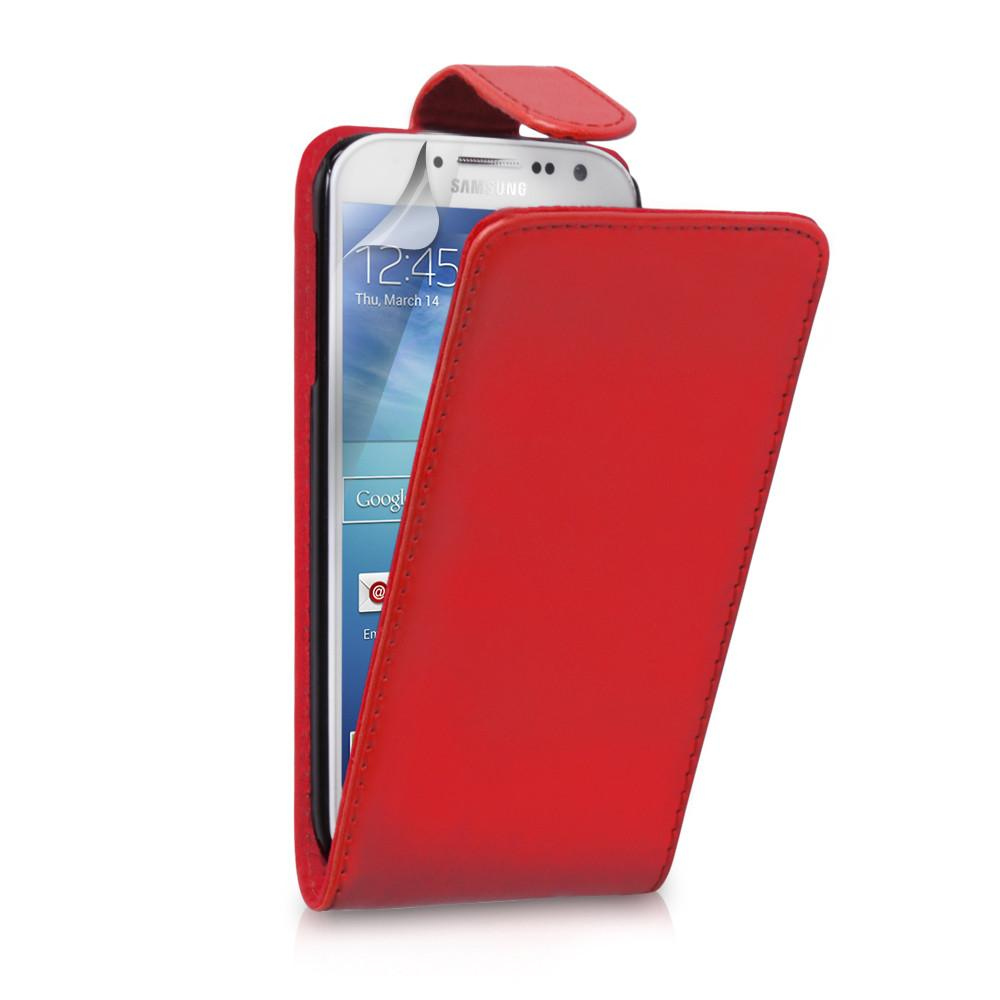 Samsung Galaxy S4 Flip Leather - Red