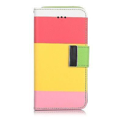 Samsung Galaxy S4 Triple Colour Flip Case - Pink